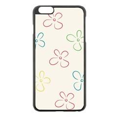 Flower Background Nature Floral Apple iPhone 6 Plus/6S Plus Black Enamel Case