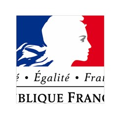 Symbol of the French Government Small Satin Scarf (Square)