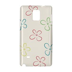 Flower Background Nature Floral Samsung Galaxy Note 4 Hardshell Case