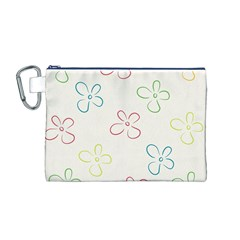 Flower Background Nature Floral Canvas Cosmetic Bag (M)