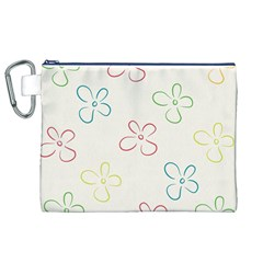 Flower Background Nature Floral Canvas Cosmetic Bag (XL)