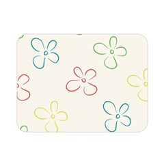 Flower Background Nature Floral Double Sided Flano Blanket (Mini)