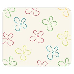Flower Background Nature Floral Double Sided Flano Blanket (Small)