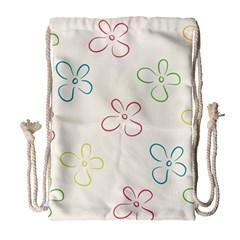 Flower Background Nature Floral Drawstring Bag (Large)