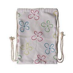 Flower Background Nature Floral Drawstring Bag (Small)