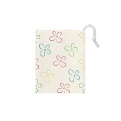 Flower Background Nature Floral Drawstring Pouches (XS)