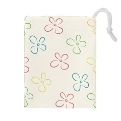 Flower Background Nature Floral Drawstring Pouches (Extra Large)