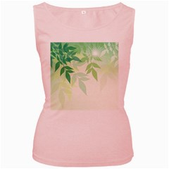 Spring Leaves Nature Light Women s Pink Tank Top