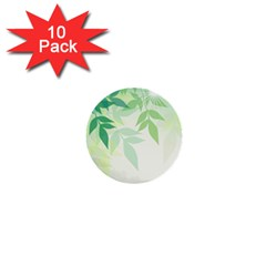 Spring Leaves Nature Light 1  Mini Buttons (10 pack)