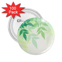 Spring Leaves Nature Light 2.25  Buttons (100 pack)