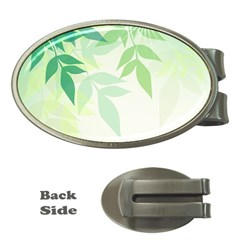 Spring Leaves Nature Light Money Clips (oval)