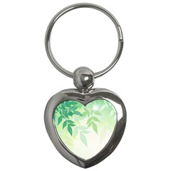 Spring Leaves Nature Light Key Chains (heart)