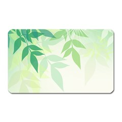 Spring Leaves Nature Light Magnet (rectangular)