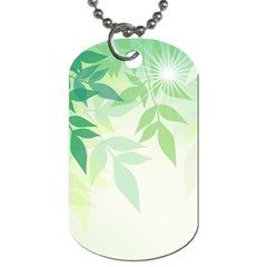 Spring Leaves Nature Light Dog Tag (one Side)