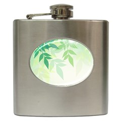 Spring Leaves Nature Light Hip Flask (6 oz)