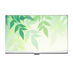 Spring Leaves Nature Light Business Card Holders