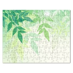 Spring Leaves Nature Light Rectangular Jigsaw Puzzl