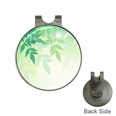 Spring Leaves Nature Light Hat Clips with Golf Markers