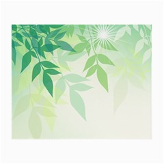 Spring Leaves Nature Light Small Glasses Cloth