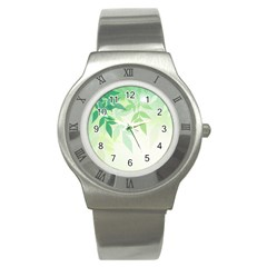 Spring Leaves Nature Light Stainless Steel Watch
