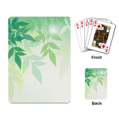 Spring Leaves Nature Light Playing Card