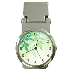 Spring Leaves Nature Light Money Clip Watches
