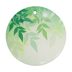 Spring Leaves Nature Light Round Ornament (Two Sides)