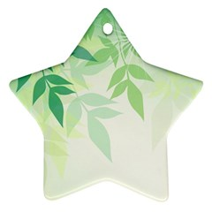 Spring Leaves Nature Light Star Ornament (two Sides)