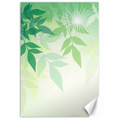Spring Leaves Nature Light Canvas 12  x 18