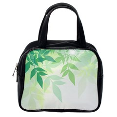 Spring Leaves Nature Light Classic Handbags (One Side)