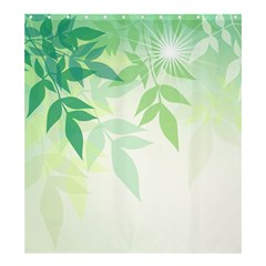 Spring Leaves Nature Light Shower Curtain 66  x 72  (Large)