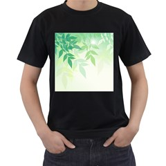 Spring Leaves Nature Light Men s T-Shirt (Black)