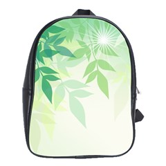 Spring Leaves Nature Light School Bags(Large)