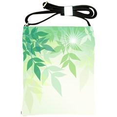 Spring Leaves Nature Light Shoulder Sling Bags