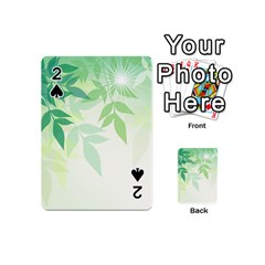 Spring Leaves Nature Light Playing Cards 54 (mini)