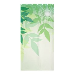 Spring Leaves Nature Light Shower Curtain 36  x 72  (Stall)