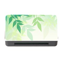 Spring Leaves Nature Light Memory Card Reader with CF