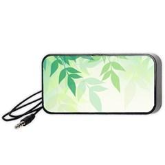 Spring Leaves Nature Light Portable Speaker (Black)