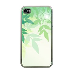 Spring Leaves Nature Light Apple iPhone 4 Case (Clear)