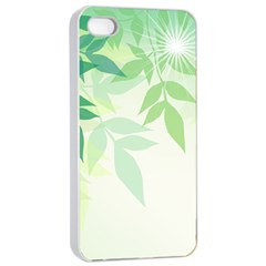 Spring Leaves Nature Light Apple iPhone 4/4s Seamless Case (White)