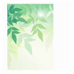 Spring Leaves Nature Light Small Garden Flag (Two Sides)
