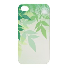 Spring Leaves Nature Light Apple iPhone 4/4S Premium Hardshell Case