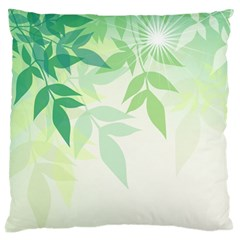 Spring Leaves Nature Light Large Cushion Case (One Side)