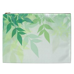 Spring Leaves Nature Light Cosmetic Bag (XXL)