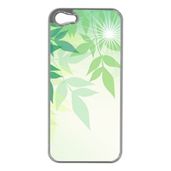 Spring Leaves Nature Light Apple iPhone 5 Case (Silver)