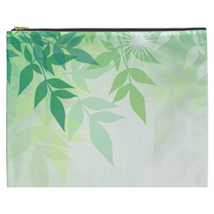 Spring Leaves Nature Light Cosmetic Bag (XXXL)