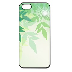 Spring Leaves Nature Light Apple iPhone 5 Seamless Case (Black)