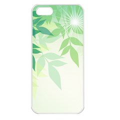 Spring Leaves Nature Light Apple Iphone 5 Seamless Case (white)