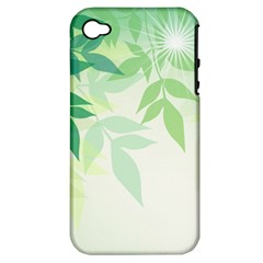 Spring Leaves Nature Light Apple iPhone 4/4S Hardshell Case (PC+Silicone)