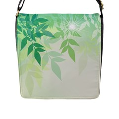 Spring Leaves Nature Light Flap Messenger Bag (l)